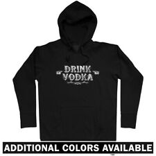 Drink Vodka Hoodie - Hoody Men S-3X - Gift Bar Bartender Russian Polish Wodka