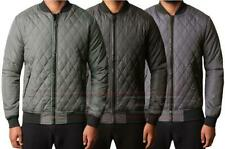 Mens D-Project Casual Diamond Quilted Bomber Jacket Coat Winter