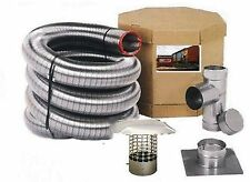 """4"""" FLEX-ALL SINGLE PLY ALL FUEL STAINLESS STEEL CHIMNEY LINER KITS"""