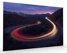 Headlights and Brakelights Landscape Stretched Canvas