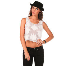 New Mink Pink Pastel Party Top in White | Womens Fashion Tops & Shirts