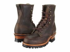 Women's Frye Boots Logger 8G Lace Up Work Boot Leather 77533 TAN