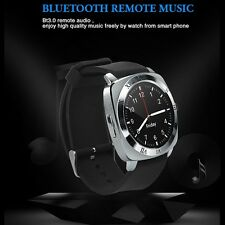 X3+ Unlock Bluetooth watch cell phone Quad Band Single Micro SIM mp3 Watch phone