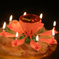 Special Magical Flower Happy Birthday Blossom Lotus Musical Candle Party Gift SA