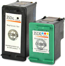2 printer cartridges ink compatible with HP 350 XL + 351 350Xl 351XL