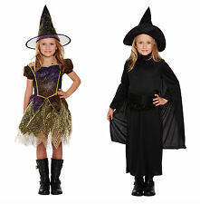 Kids Witch Costume Girls Halloween Trick Or Treat Fancy Dress Child Dressing Up