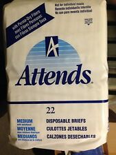 P&G UNOPENED BAG VINTAGE ATTENDS DIAPERS (BRIEFS) (NOS)
