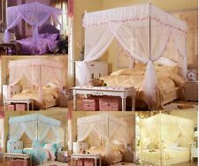 Princess Four Corner Post Bed Canopy Mosquito Netting Or Frame Post Twin Queen