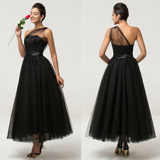 New Black Tulle Wedding Dress Prom Gown Evening Formal Party Cocktail Maxi Dress