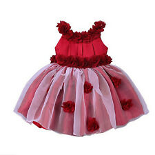 Flower Girls Dress Baby Toddler Wedding Bridesmaid Christmas Party Tutu Dresses