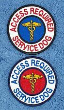 ACCESS REQUIRED SERVICE DOG PATCH 3 INCH Danny & LuAnns Embroidery assistance