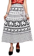 A Hippie Boho Hippie Gypsy Tribal Batik Cotton Long Skirt Dress Handmade