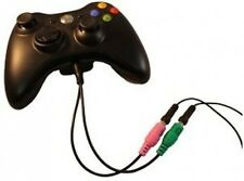 Xbox 360 PC Headset Adapter - Use PC Headset with Xbox 360 Live, Dual 3.5mm to 2