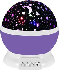 Baby Night Light Lamp Uinstone Moon Star Projector 360 Degree Rotation Romantic