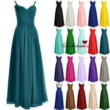New STOCK Long Formal Evening Prom Party Ball Gown Wedding Bridesmaid Dress 6-20