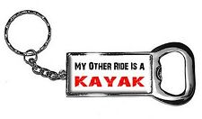 Kayak Keychain My Other Ride Vehicle Car Is A Kayak Bottlecap Opener Keychain. H