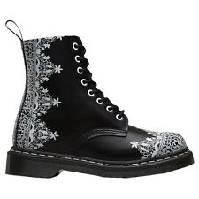 Dr.Martens Pascal Lace Smooth Black White Womens Boots