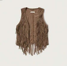 NWT ABERCROMBIE & FITCH SUEDE FRINGE VEST - SIZE SMALL OR MEDIUM