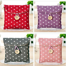 Portable Trendy Women Cute Polka Dot Cotton Sanitary Napkin Mini Bag Case Holder