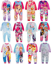 Official Girls Fleece Character Onesie Pyjamas Childrens All In One  Pj's Size