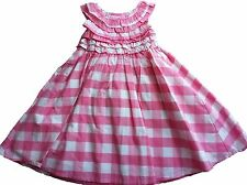 OshKosh Girls 6 24 Months Pink Gingham Ruffle Dress with Diaper Cover NWT $34