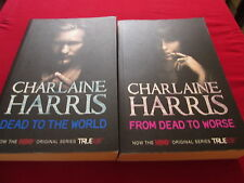 CHARLAINE HARRIS - DEAD TO THE WORLD & FROM DEAD TO WORSE - 2 PB BOOKS