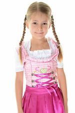 Authentic 2 pcs lederhosen4u Girls Dirndl Oktoberfest Kids Dirndl Dress PINK