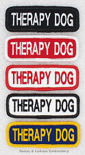 1 THERAPY DOG 1X3 TITLE PATCH  Danny & LuAnns Embroidery  service