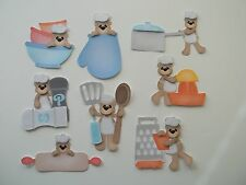 3D - U Pick - Bear Cooking Utensils Pot Grater Scrapbook Card Embellishment 1150