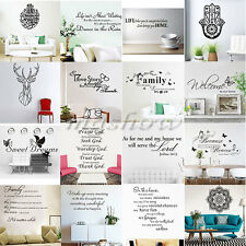 Family DIY Room Art Vinyl Quote Wall Stickers Decal Mural Home Kids Decor Words