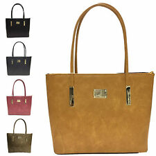 Ladies Stylish Faux Leather Handbag Evening Shoulder Bag Grab Bag Tote MS0036