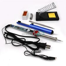 New 9 in 1 Electric Soldering Iron Starter Tool Kit Set With Iron Stand Solder M
