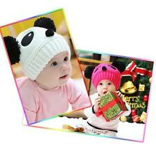 Crochet Knit Hat Panda Pattern Toddler Kids Winter Warm Beanie Cap Baby Girl Boy