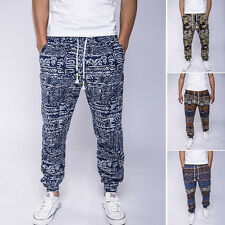 New Men Vintage Baggy Jogger Trousers Casual Sports Loose Pants Trousers Slacks