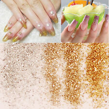 10ml Gold/Silver Nail Art Glitter Champagne Dust Powder Sequins Decoration UK