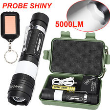 Cree Zoomable 5000LM Flashlight XML T6 LED Tactical Torch Lamp+Battery Case Set