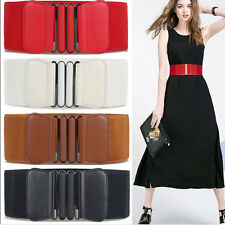 Vintage Ladies Waistband Women Wide Stretch Elastic Buckle Thin Waist Belt Hot