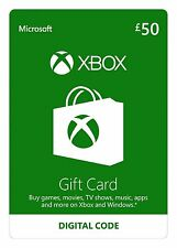 UK Microsoft XBOX Live £50 Gift Card/Code/XBL/Credit - Xbox One - Instant Codes