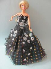 Barbie Doll Dress: Christmas Gift Dress Fit 29cm Barbie Dolls (No Dolls). Free D