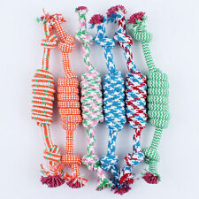 Puppy Dog Pet Toy Cotton Braided Bone Rope Chew Knot Random Color Hot ZXX
