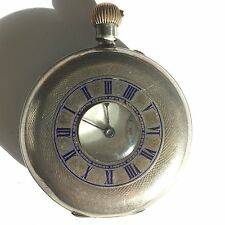 Antique Solid Silver Half Hunter Pocket Watch  Not Working 1901 A/F For Repair