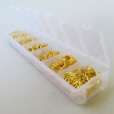 Jump Rings Gold Tone 1780PCs Mix - 7 Assorted Sizes In Plastic Storage Box