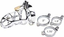 2016 Sexy Male Chastity Device  Bird Lock Stainless Steel Cock Cage