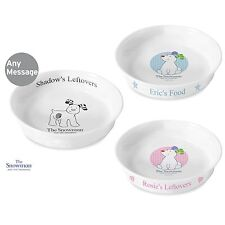 Personalised Snowman and the Snowdog Ceramic Pet Bowl Dog Cat Food Xmas Stocking