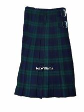 McWilliams HIGHLAND ACTIVE MEN BLACK WATCH TARTAN KILT 8 yard Formal / Daily Use