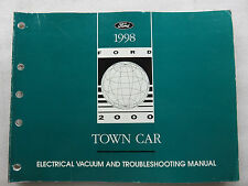 1998 Lincoln Town Car Electrical Wiring Diagrams Manual Troubleshooting OEM