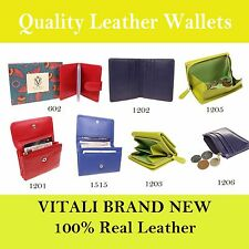 Colourful Ladies Real Leather Stunning Design Credit Card Holder Purses Wallets