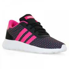 Adidas Neo Juniors Lite Racer Trainers (Core Black/Shocking Pink/White)