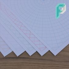 A4 Polar Circular Grid Graph Paper, Full Sheet 5 deg Increments, 5 to 100 Sheets