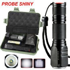 Zoomable Cree XML Q5 LED 18650 Flashlight Torch Zoom Lamp Case Super Bright free